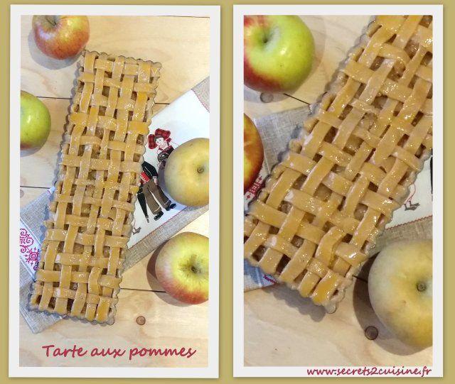 Tarte aux pommes avec sa pâte sucrée à la cannelle.