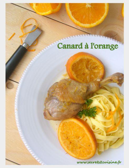 Cuisses de canard à l'orange