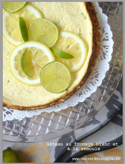 Gâteau au fromage blanc et à la semoule
