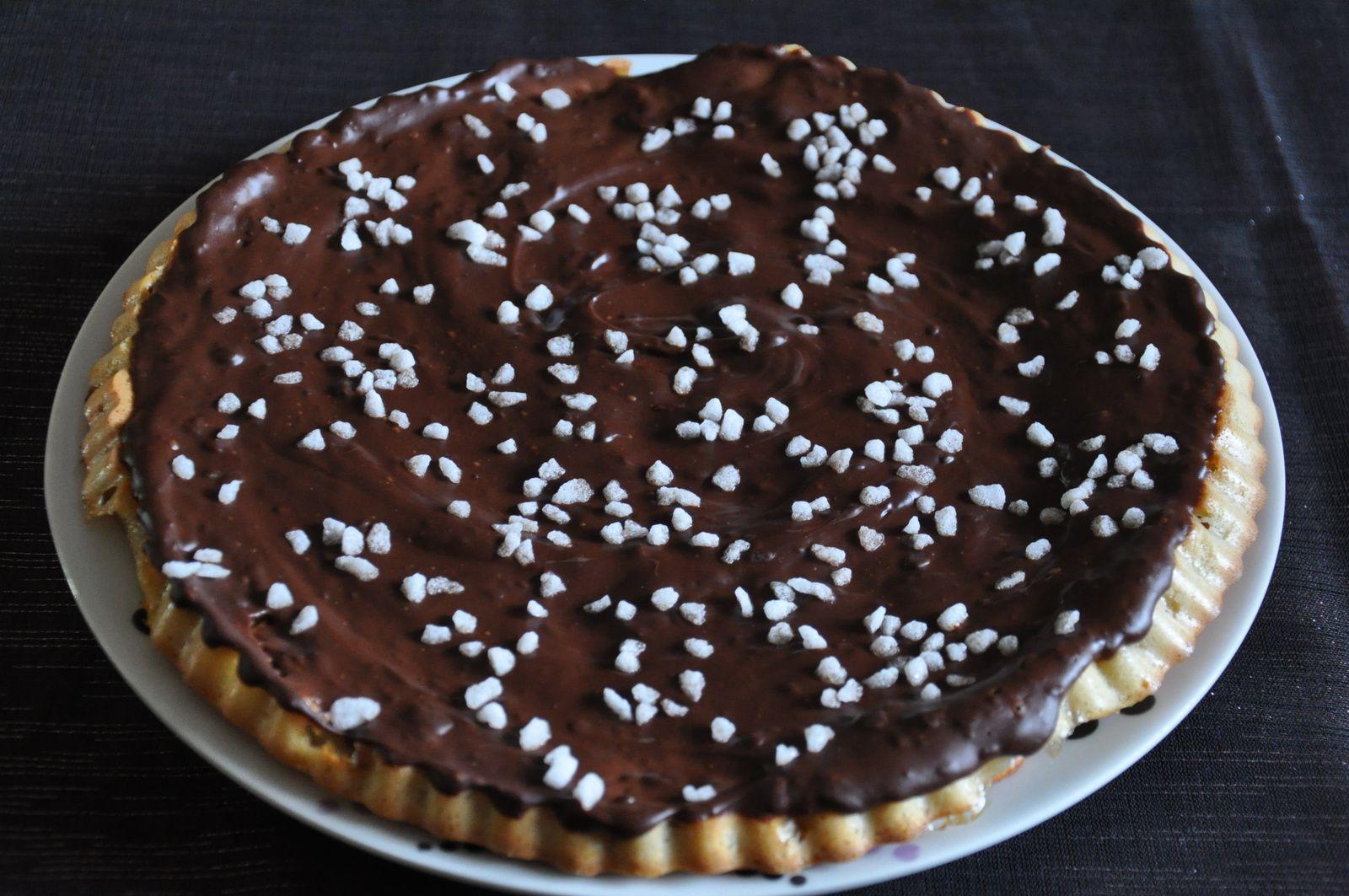 Gâteau rapide aux pommes et ganache chocolat