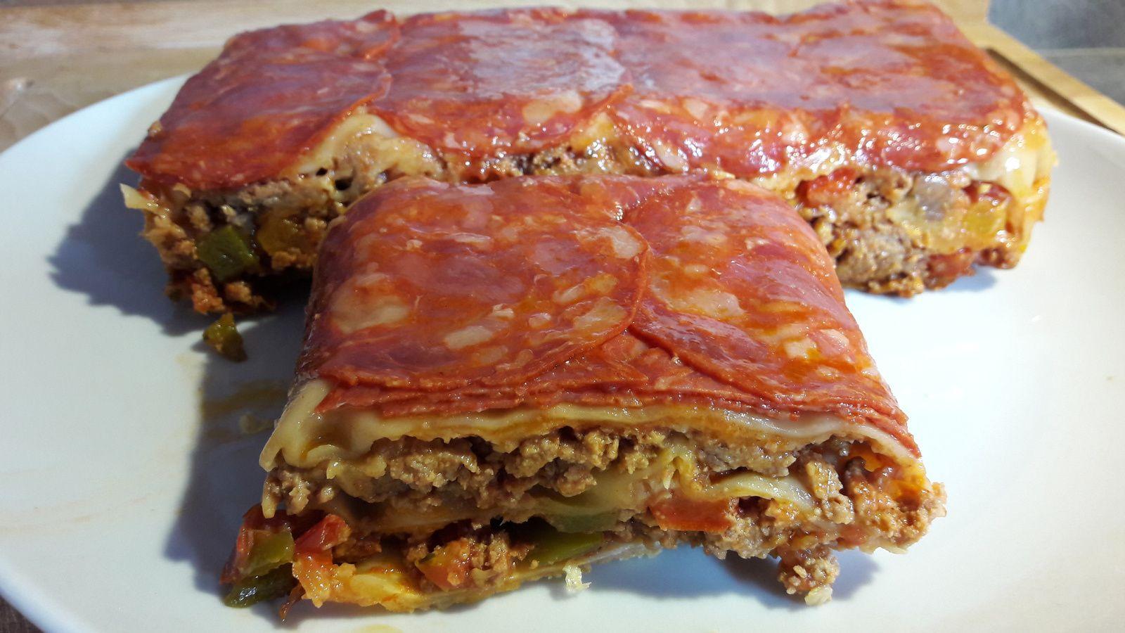 Lasagnes au chorizo ( sans bechamel )
