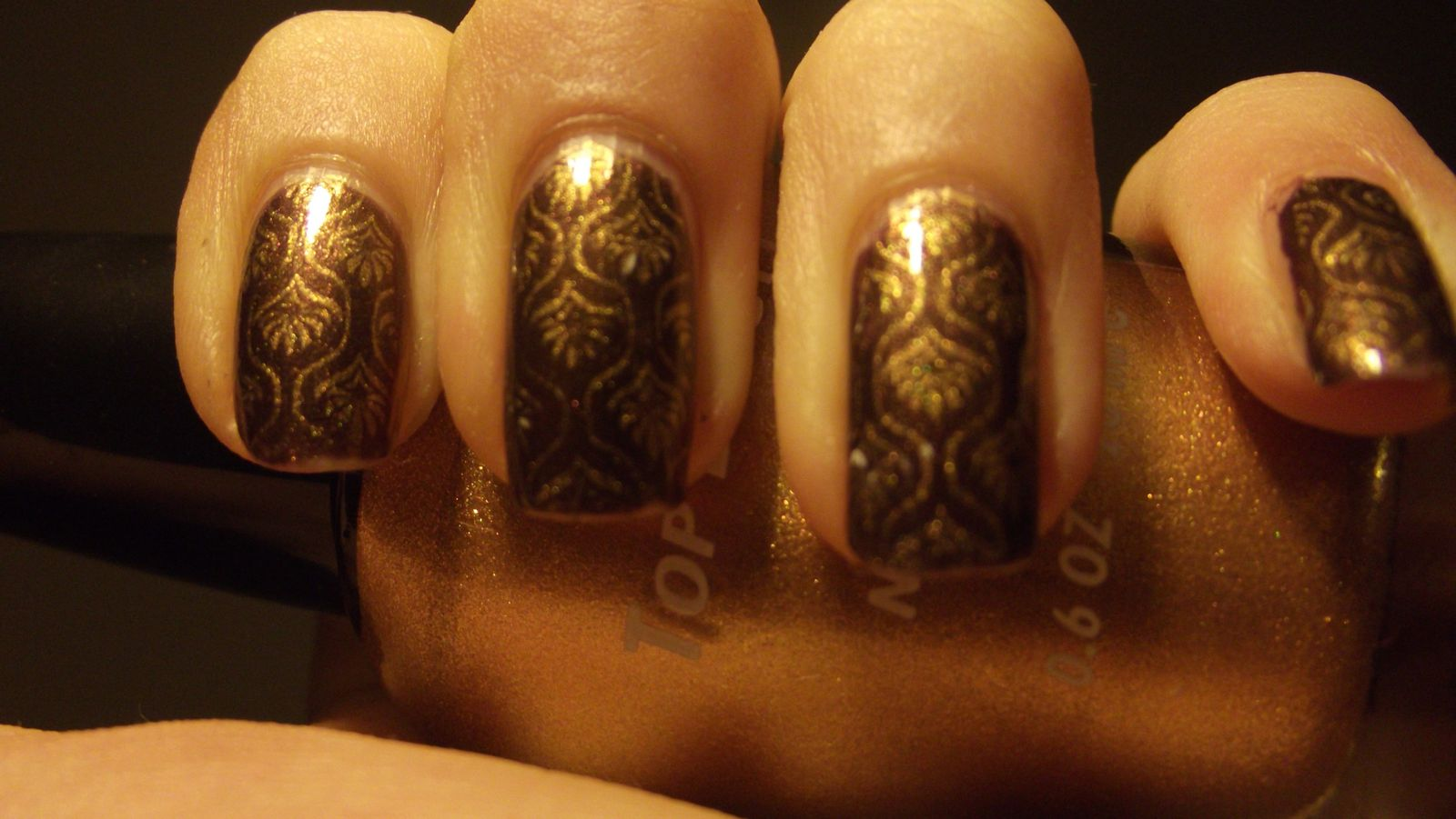 nail art inspiration choclat et baroque