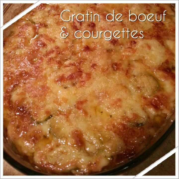 Gratin de courgettes au boeuf haché, tomate et mozzarella