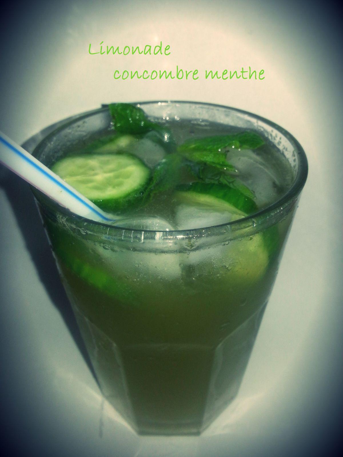 Limonade  concombre-menthe