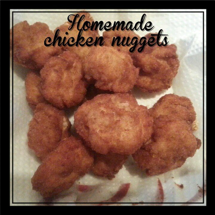 Chicken nuggets faits maison