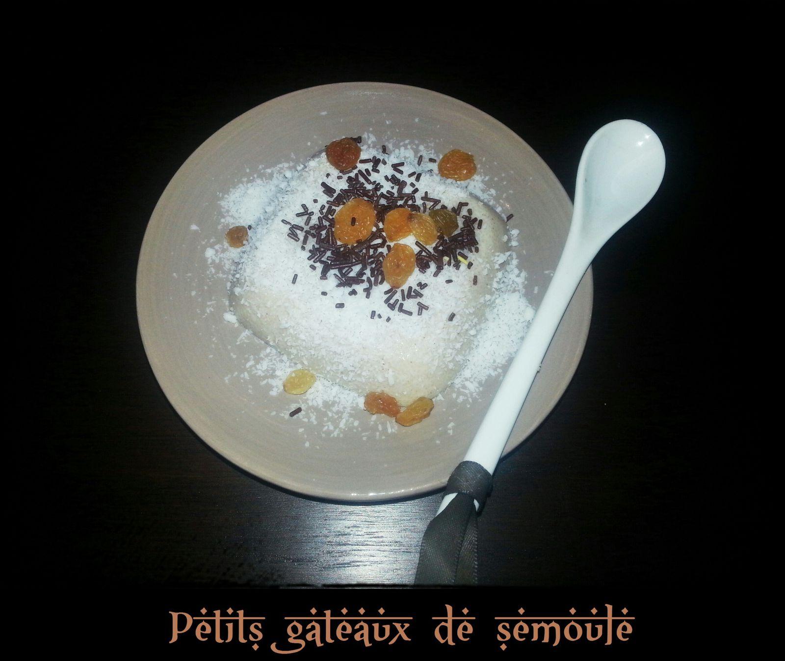 Petits puddings à la semoule