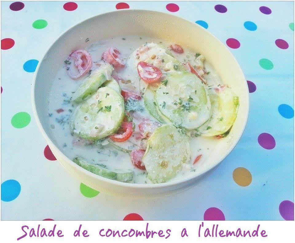 Salade de concombre à l'allemande