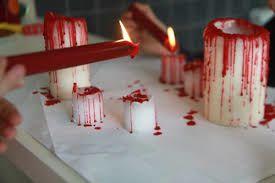 Des bougies sanguinolantes...