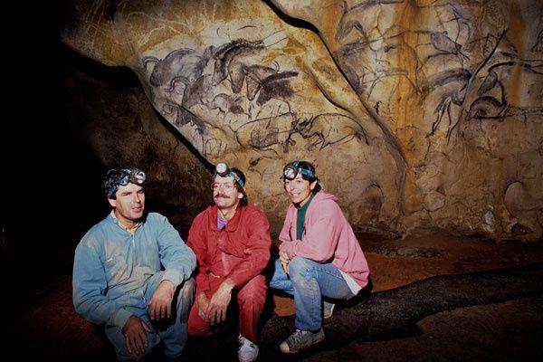 merveilleuse sortie grotte Chauvet à vallon pont d'arc janvier 2017, janvier et mars 2016