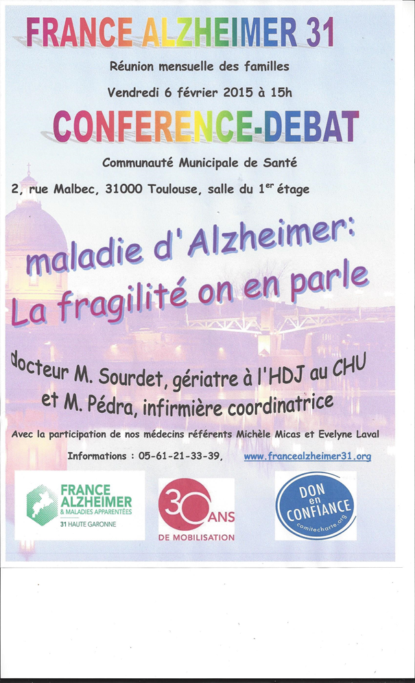 Conférence France Alzheimer 31