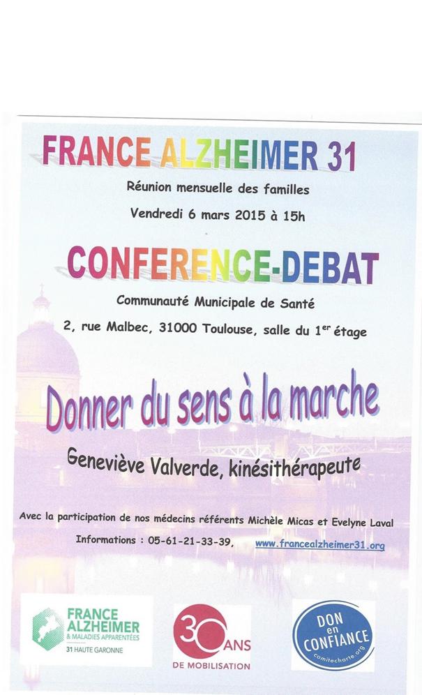 Réunion France Alzheimer 31 : &quot&#x3B;Donner du sens à la marche&quot&#x3B;