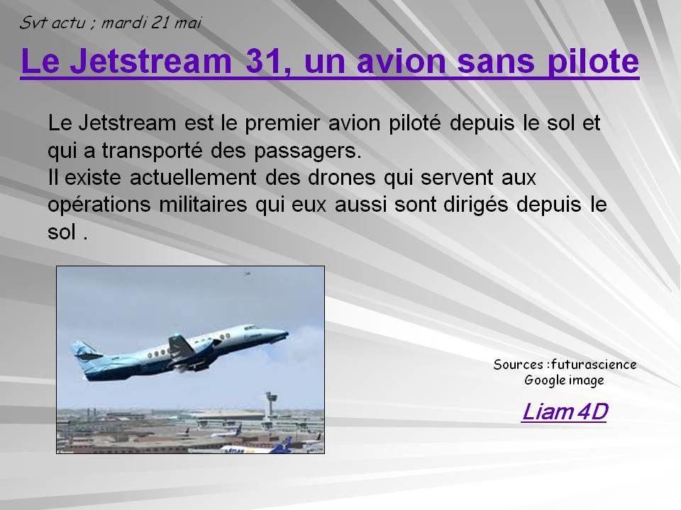 jetstream 31, un avion sans pilote