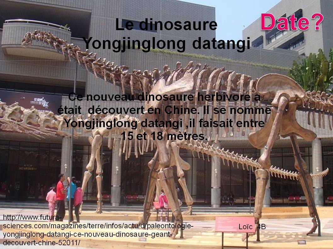 Bouse blanche / dinosaure
