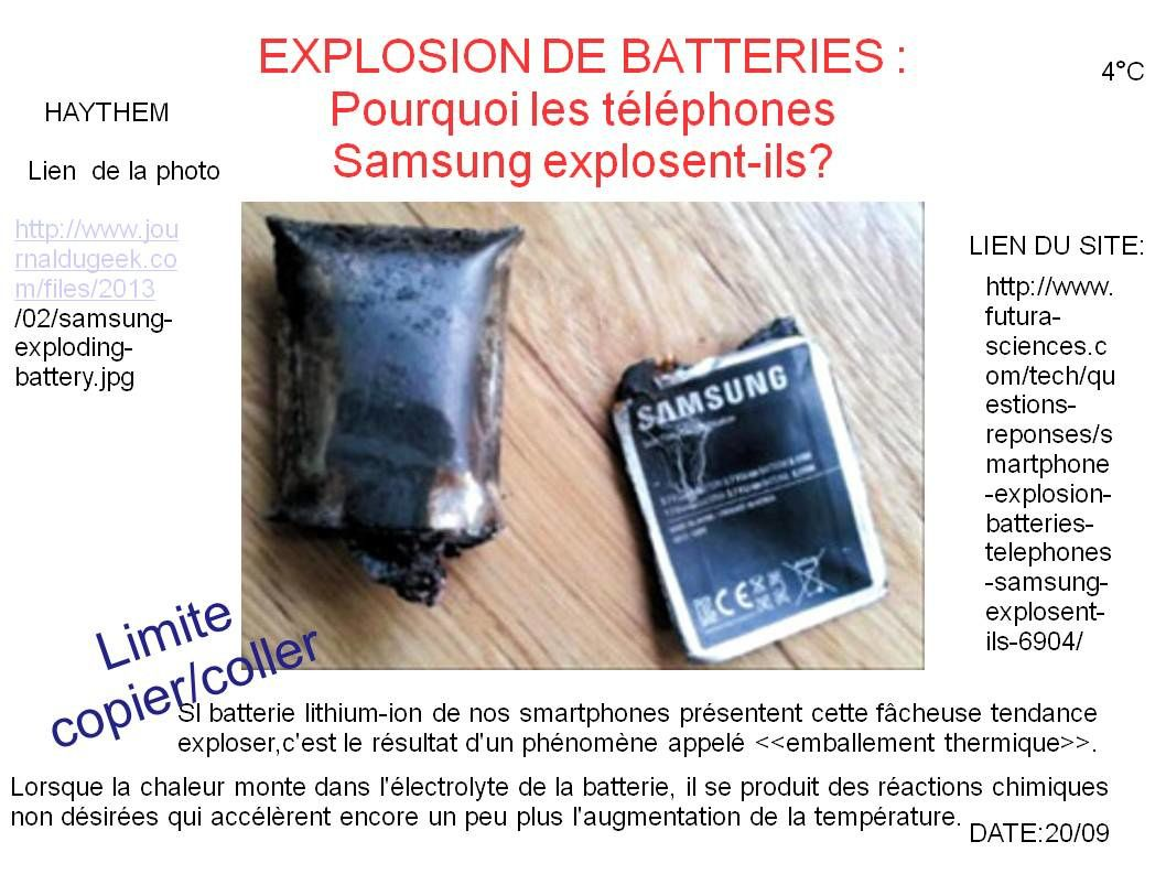 Batterie de téléphone