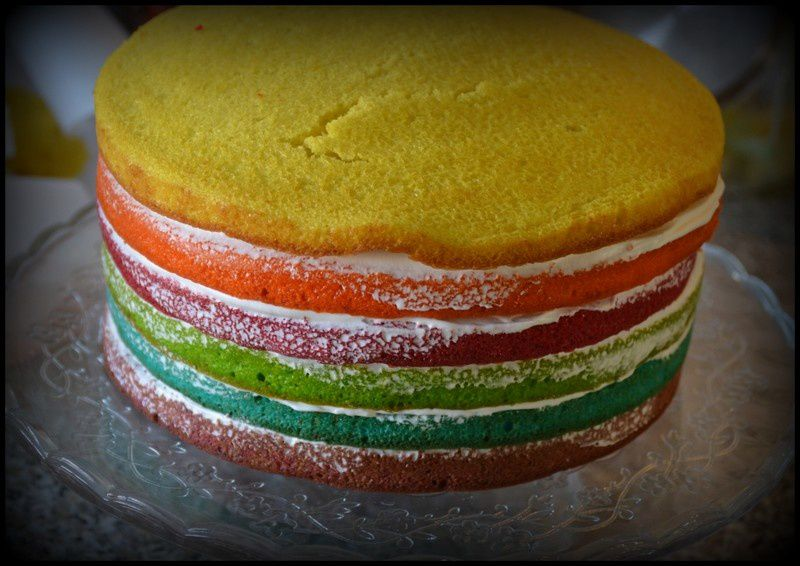 Rianbow cake