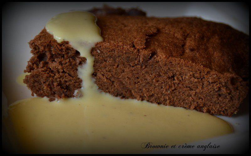 Brownie et crème anglaise