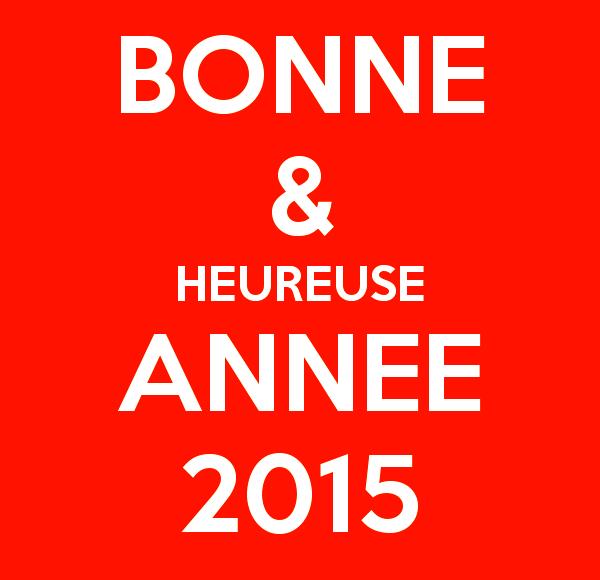 bonne et heureuse année 2015 à tous