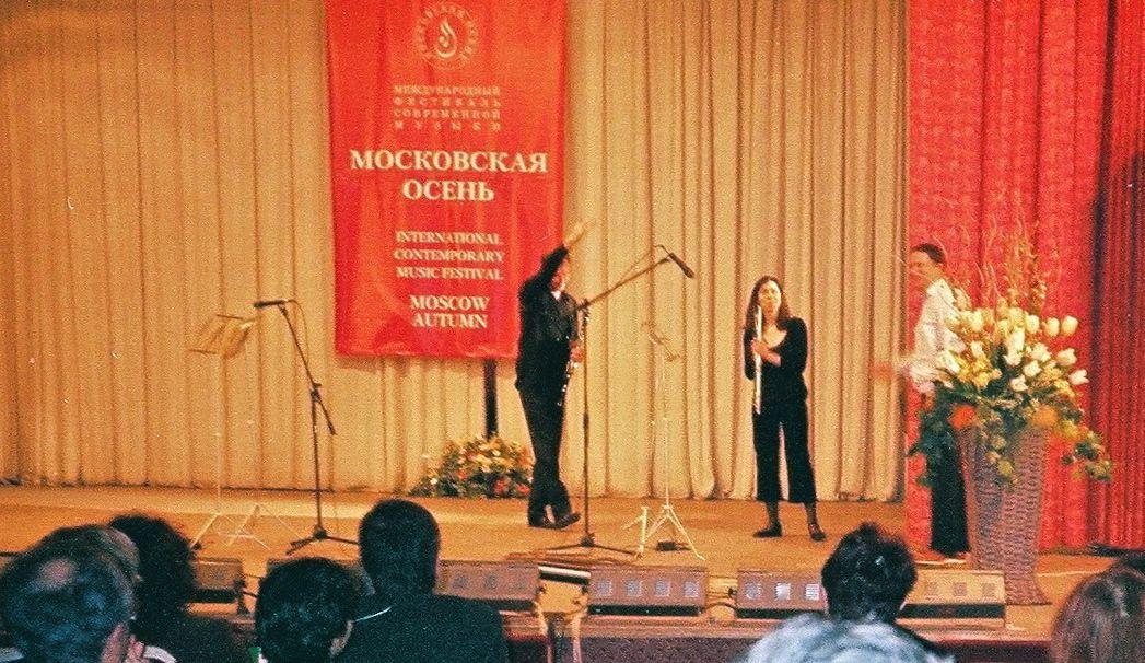 création de la version intégrale de Projections obliques III à Moscou
