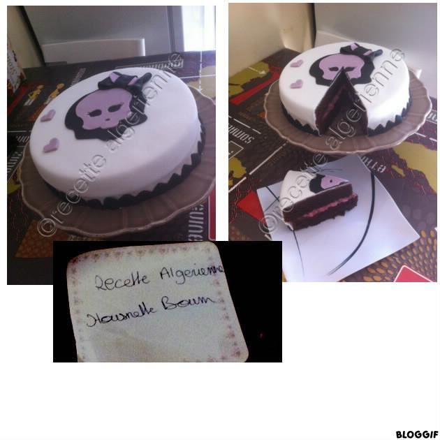 gateau chocolat monster high