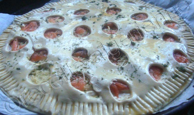 tarte salé au saumon!