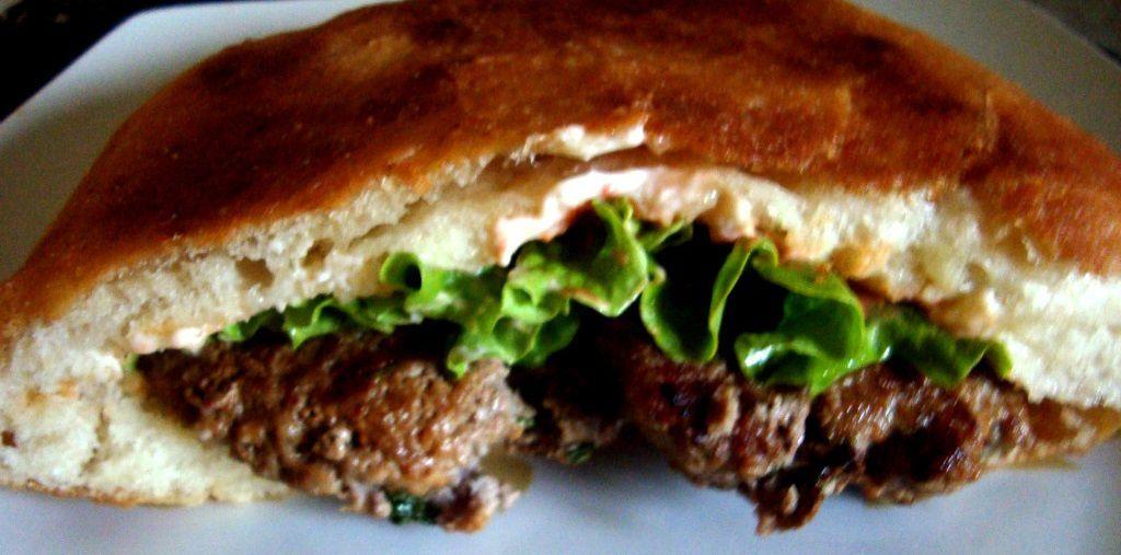 Pain frit facon burger!