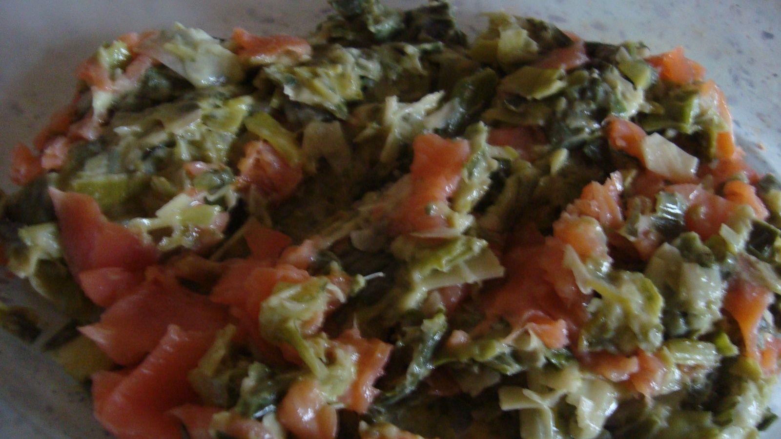 Clafoutis saumon et poireau