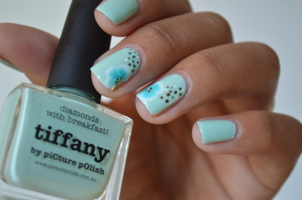 [nail art] One stroke sur Tiffany de PP