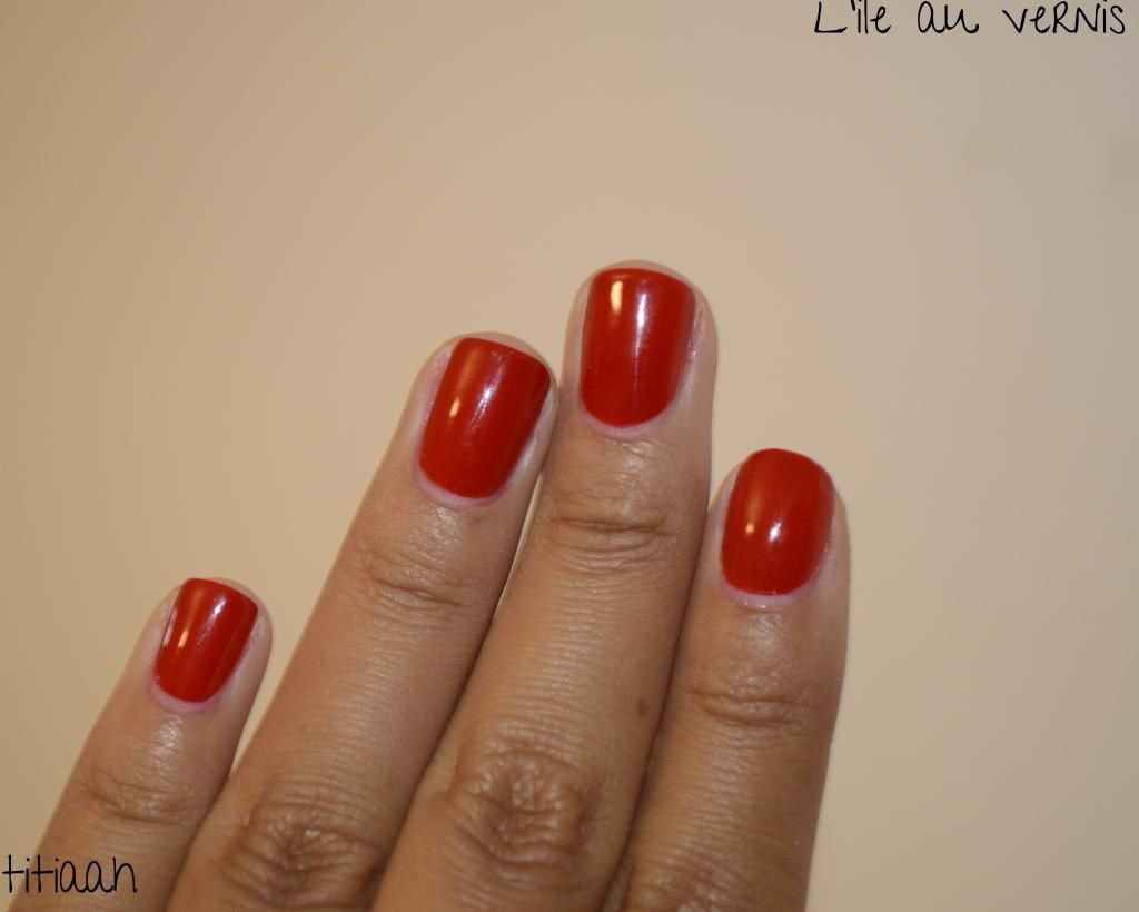 [swatch] Avril //vermillon: un rouge !!
