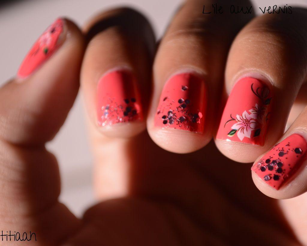[nail art] WD et paillettes