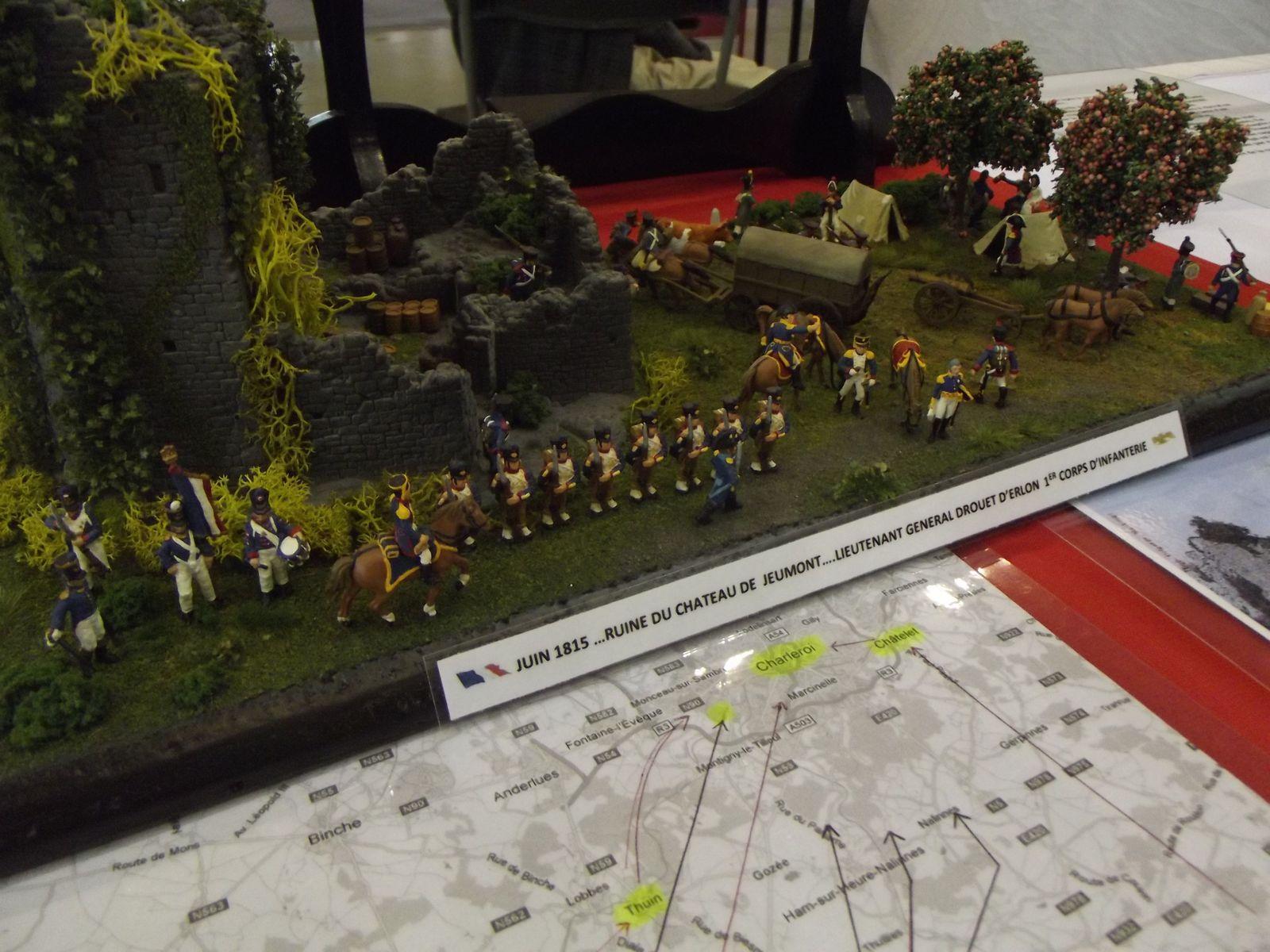 Une partie du  1er corps de Drouet d'Erlon ......................avant de rejoinde Solre sur Sambre ...........et ensuite direction Charleroi ...............Waterloo n'est pas loin .................