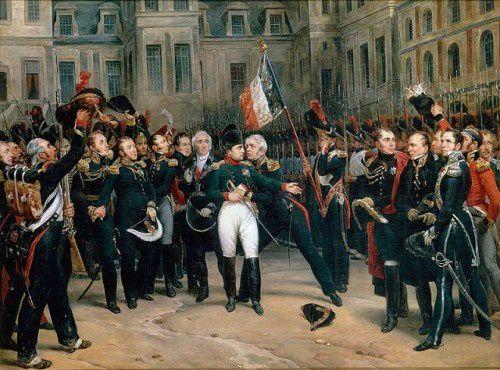 Les adieux de Napoléon à la Garde , le 20 avril  1814 .