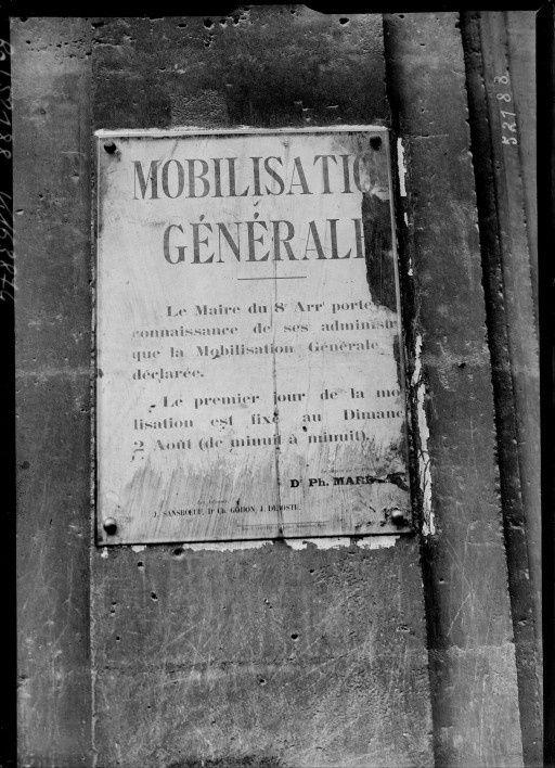 Il y a cent ans , ordre de mobilisation , divers journaux ,notre infanterie en 1914 ,  artillerie canon de 75  ,  cavalerie .....et  char .