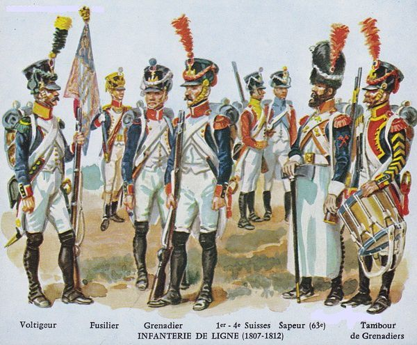 DIFFERENTS TYPE D'INFANTERIE