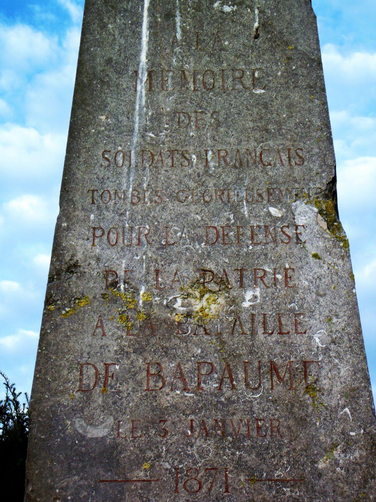 BATAILLE DE BAPAUME ....3 JANVIER 1871