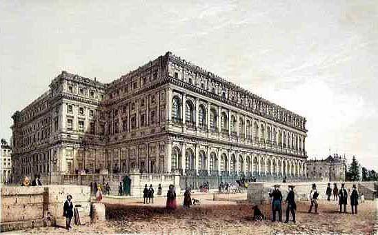 L e Palais d'Orsay : 1/ Par Philippe Benoist (1813 - 1905)- 2 / par Félix Duban. 3 / Le Palais en 1845