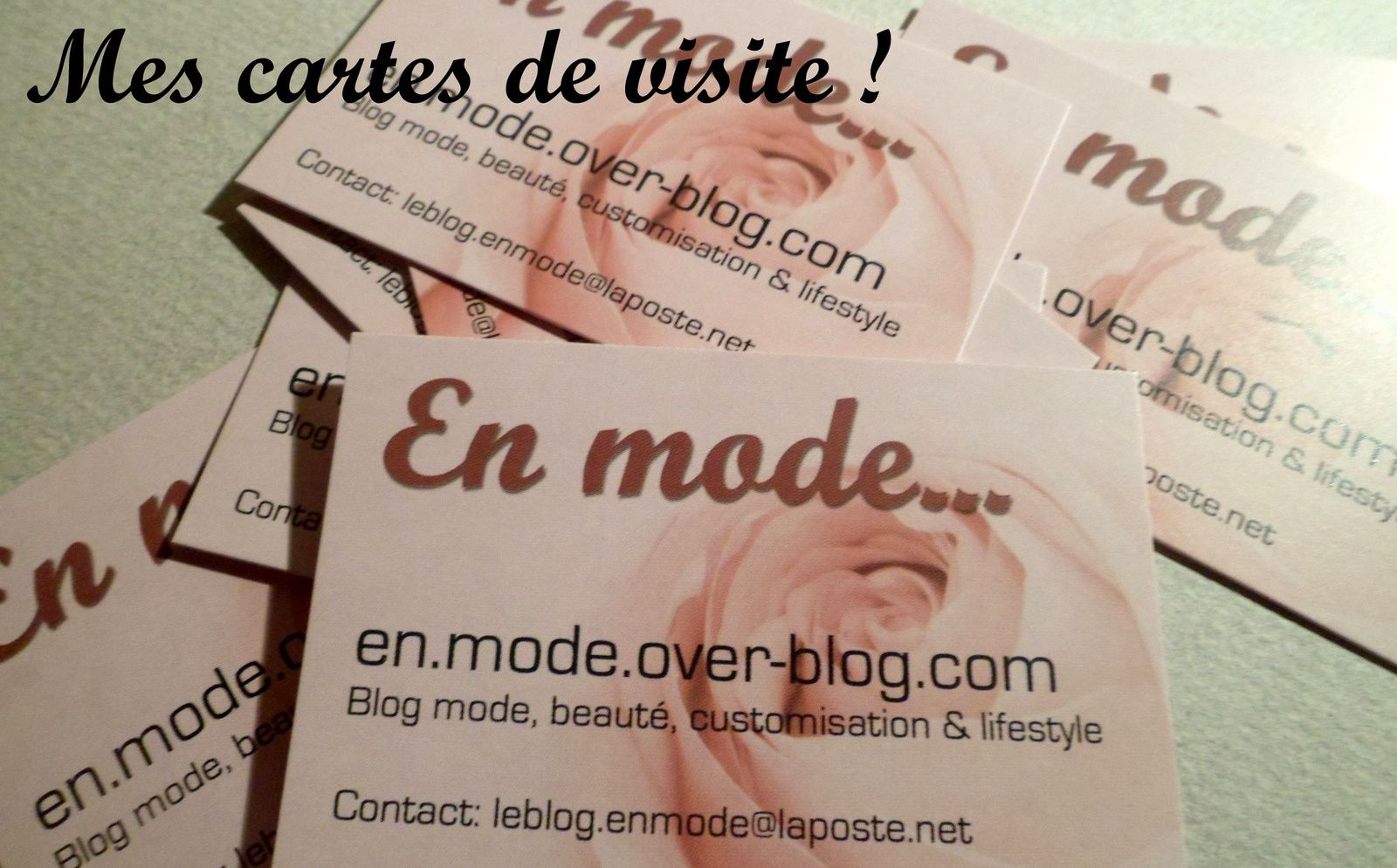 En mode... DIY porte-cartes de visite