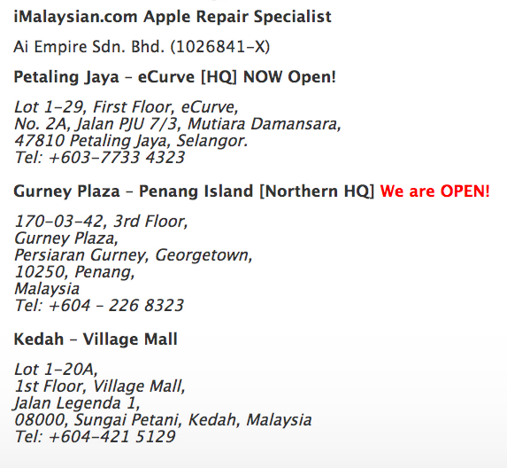 Leading iPhone Repair Cheras and Certified Technical Assistant