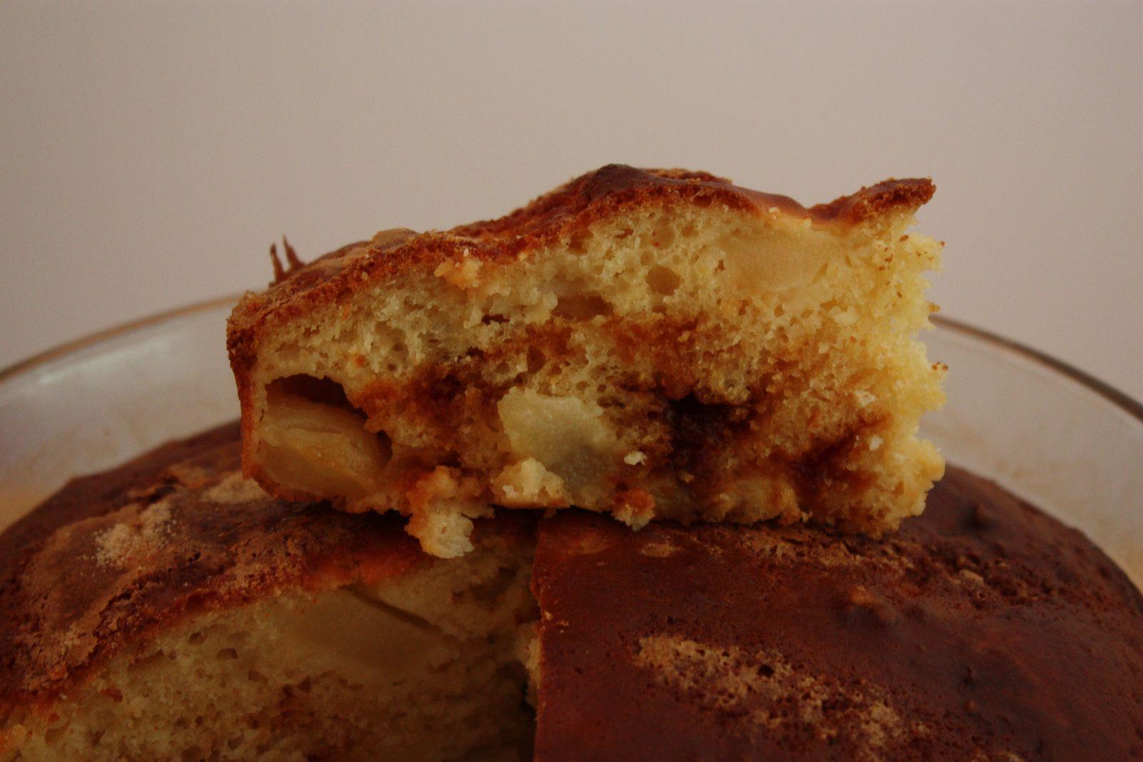 Gâteau poire caramel