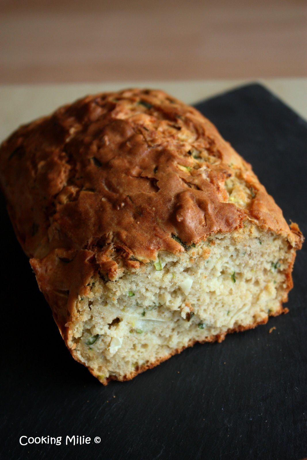 Cake (à la farine de sarrasin) chèvre et courgette
