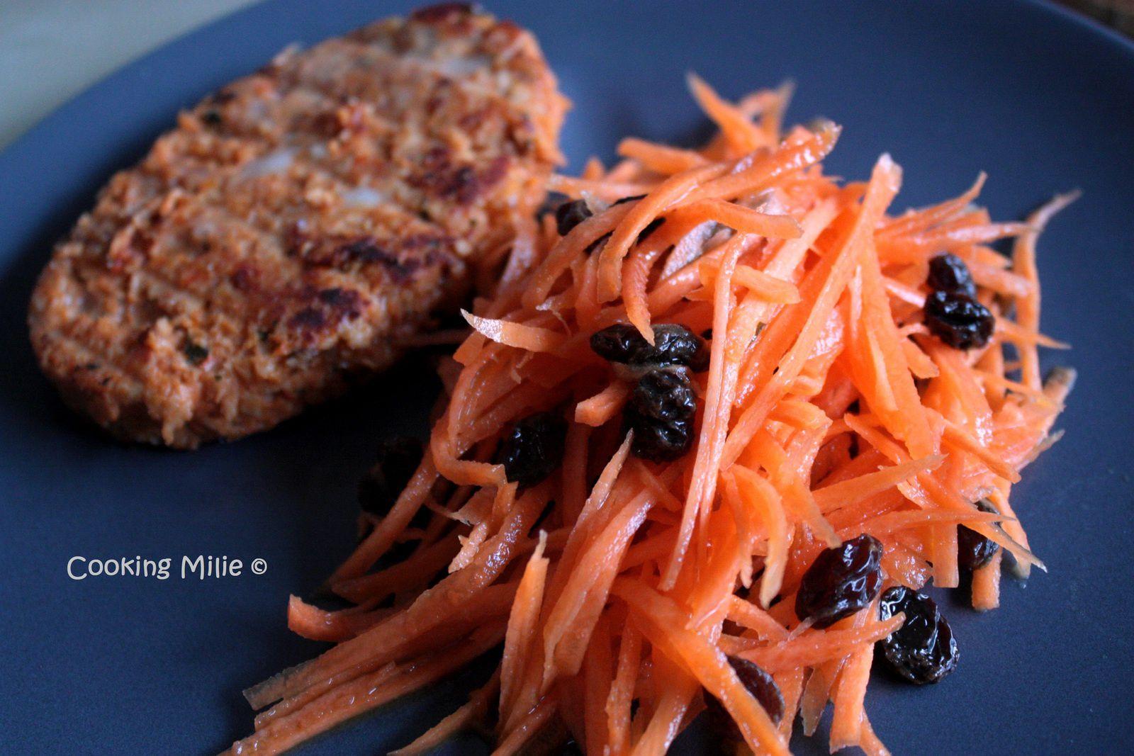 Envie de salade #8 / Carottes râpées aux raisins et jus de clémentine