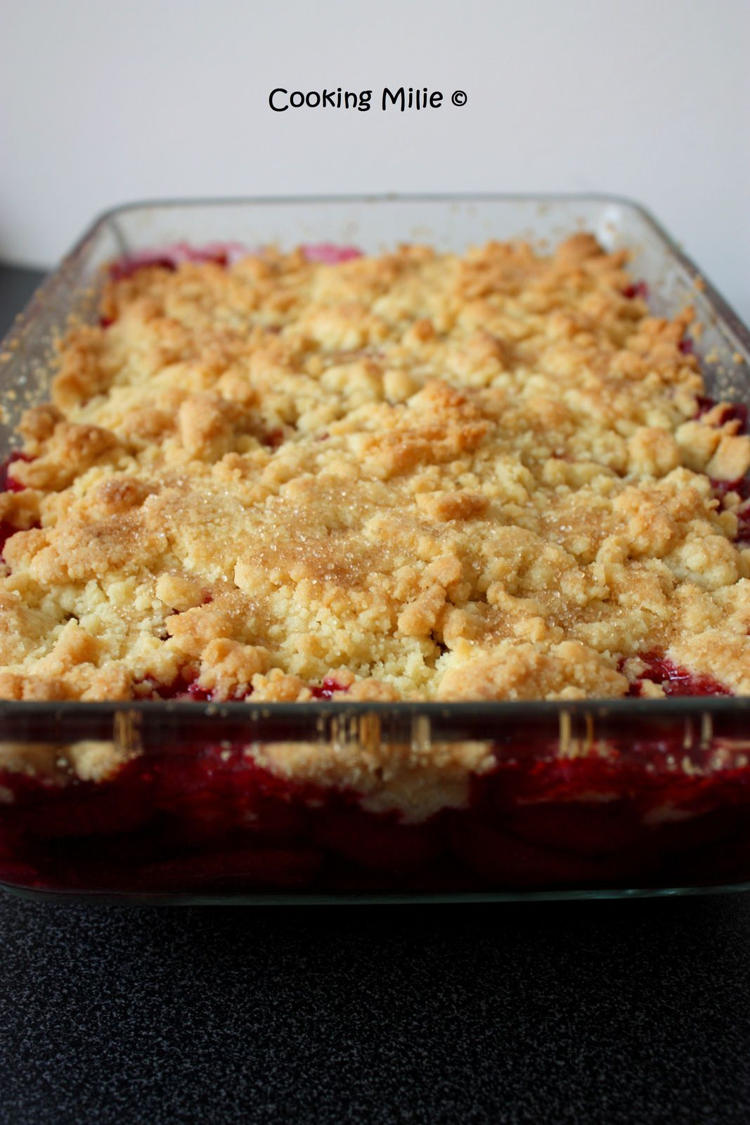 Crumble aux fruits rouges