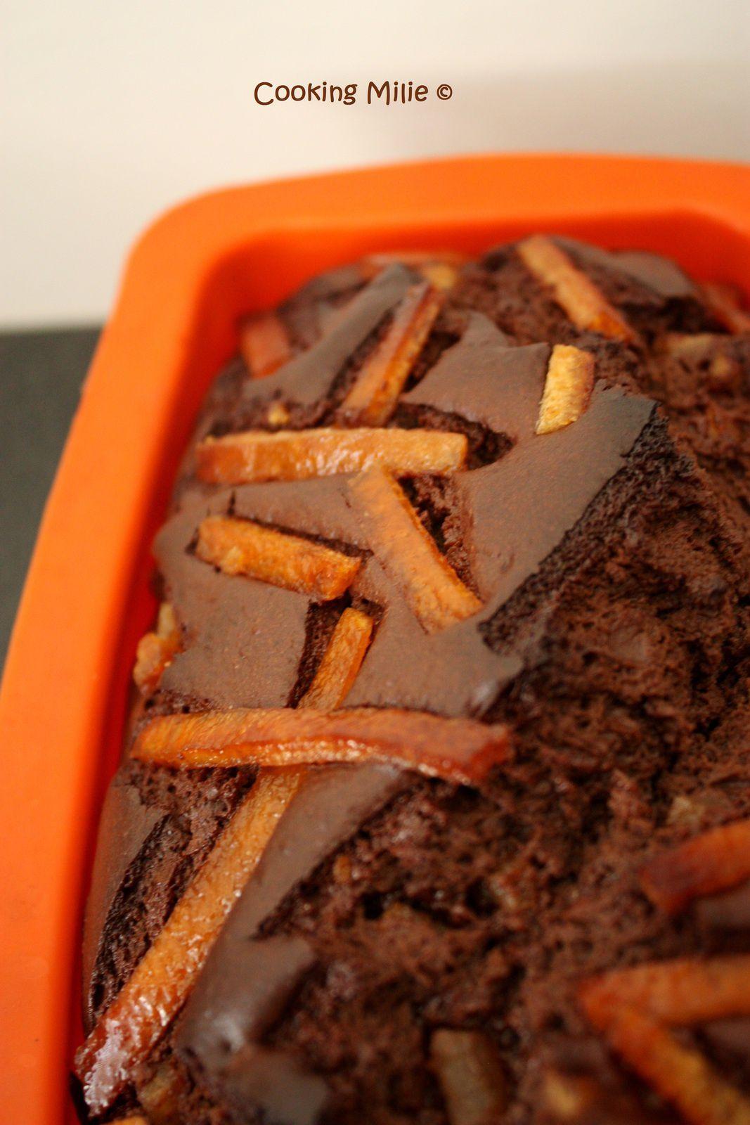 Cake au chocolat et aux écorces d'orange confites