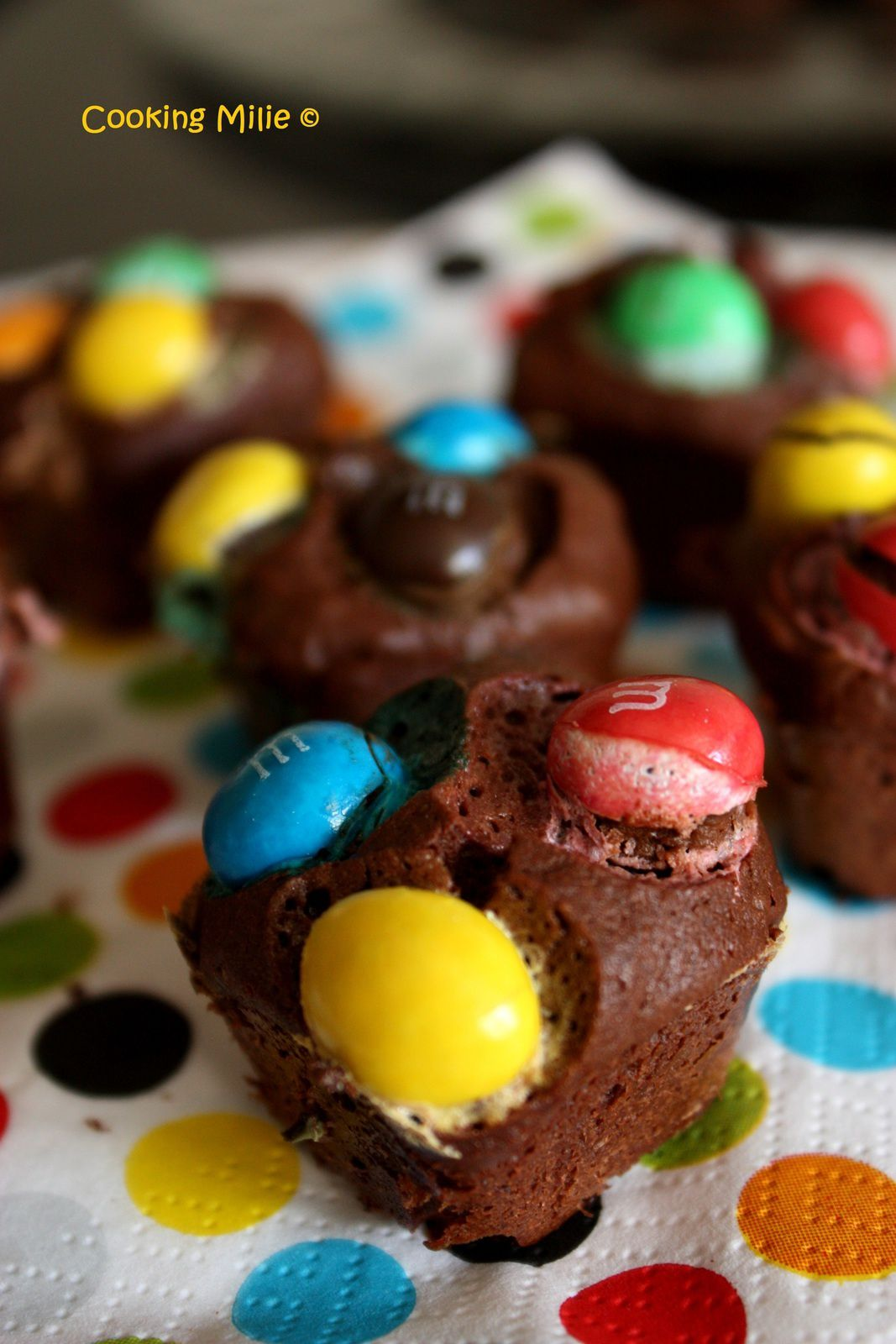 Mini brownies aux m&amp&#x3B;m's crispy
