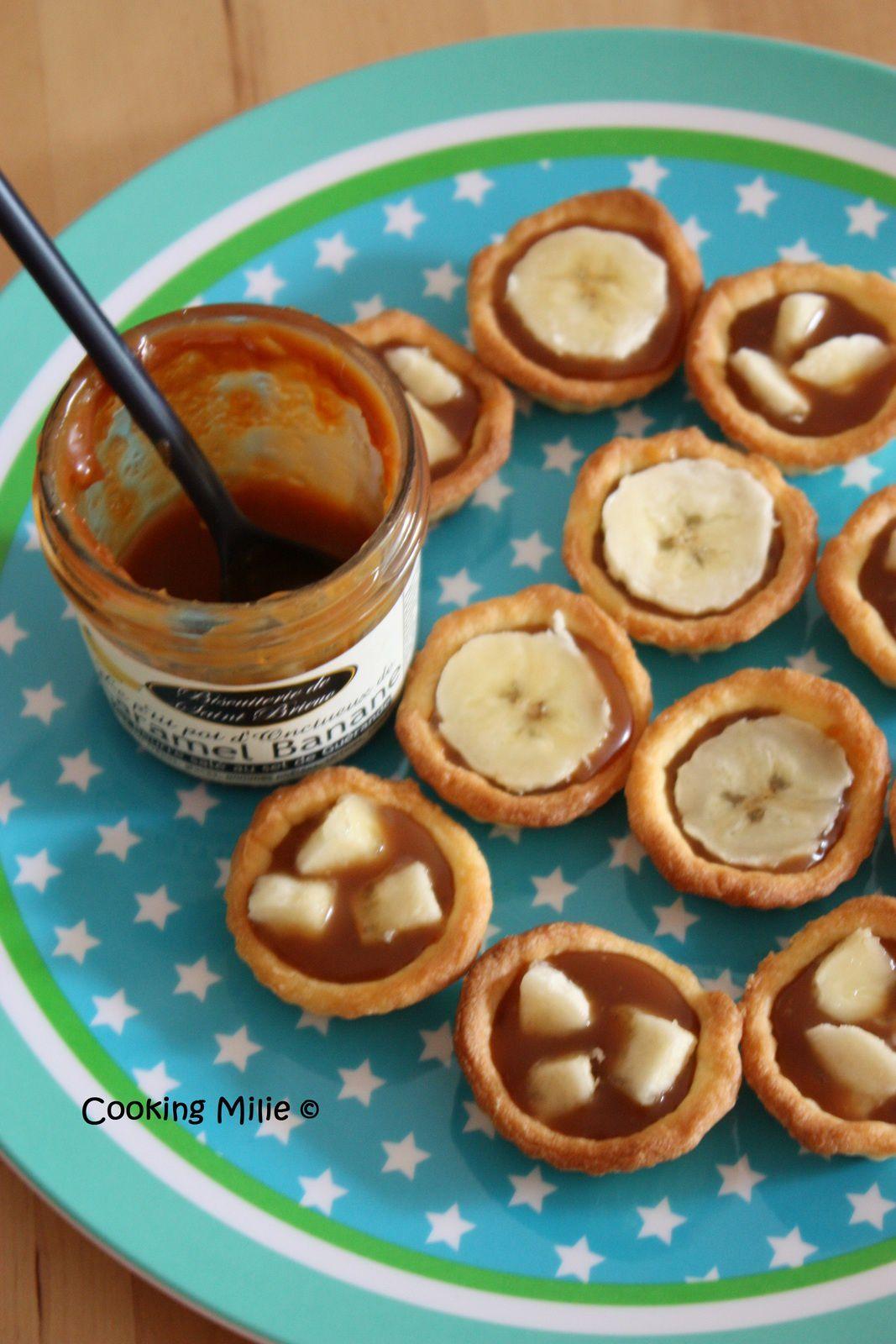 Tartelettes express à la banane et au caramel au beurre salé