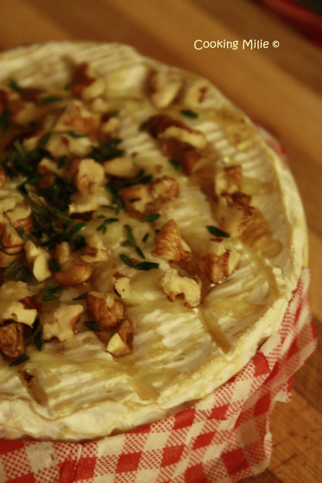 Apéritif dinatoire #39 - Camembert rôti au miel et aux noix