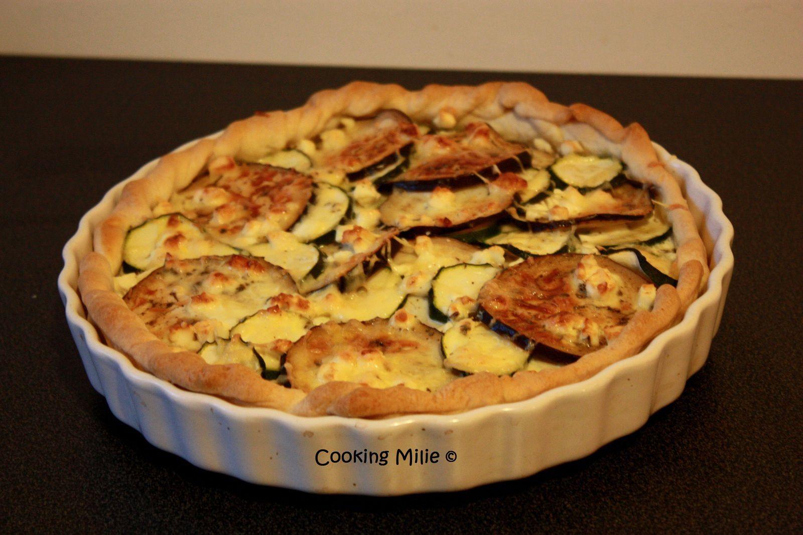 Apéritif dinatoire #42 - Quiche courgette, aubergine et feta