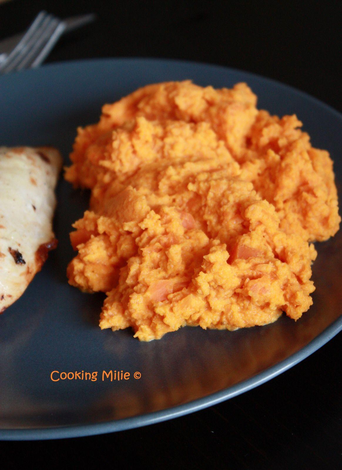 Purée de carottes au curry
