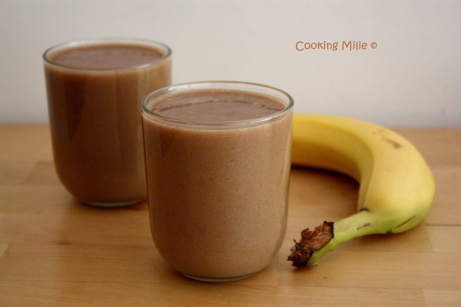 Smoothie banane chocolat