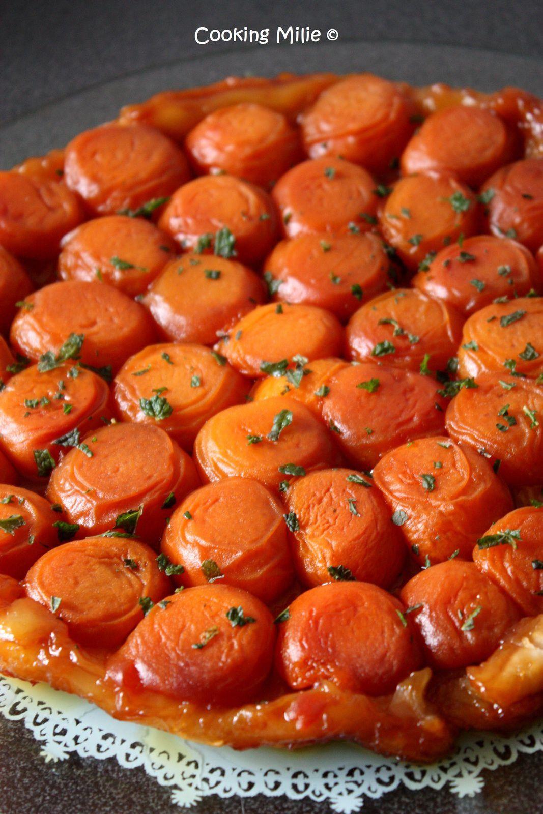 Tarte tatin aux abricots et à la menthe