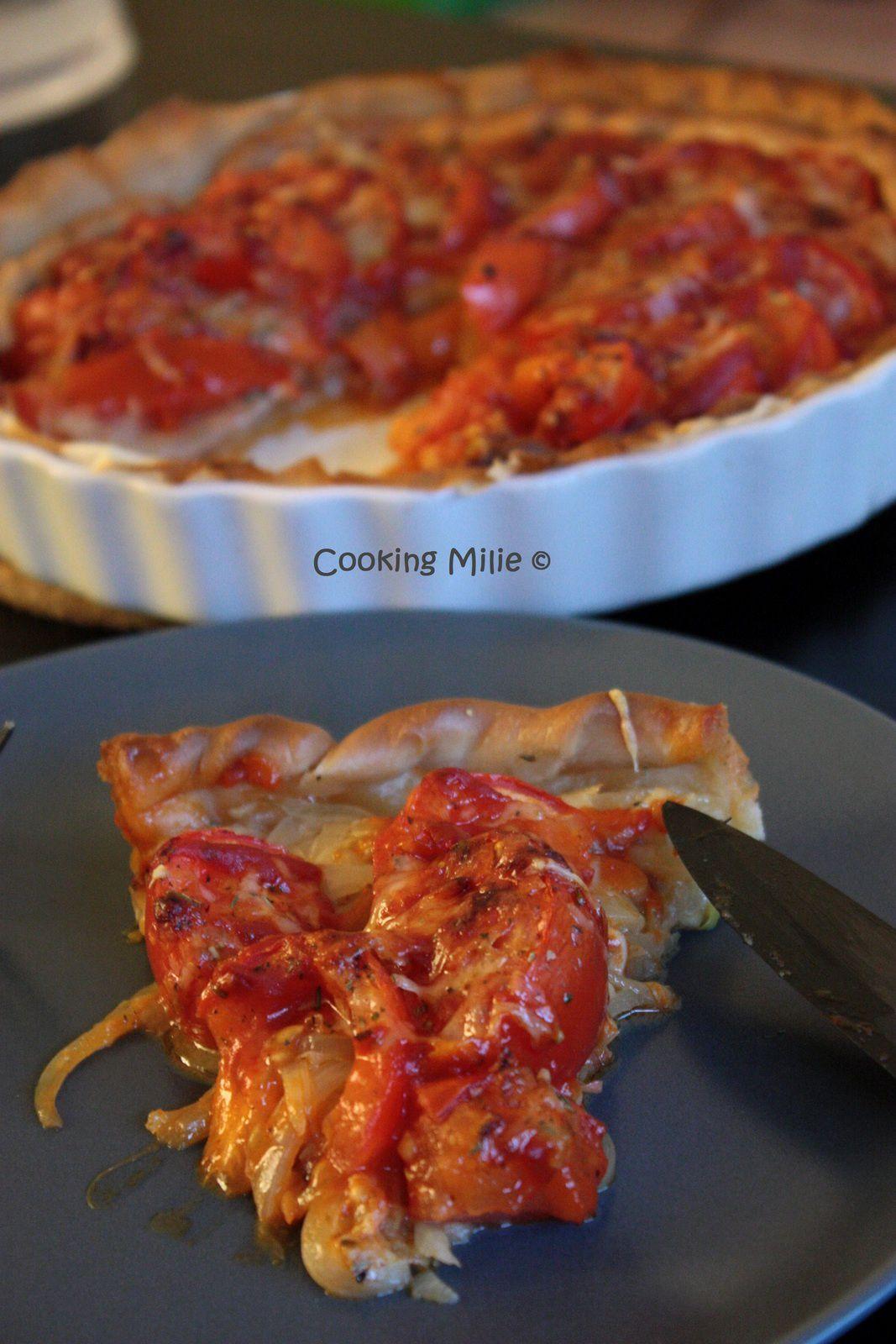 Apéritif dinatoire #58 - Tarte à la tomate et aux oignons fondants